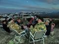 Ночующие в палатках